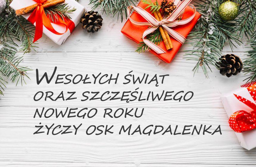 Wesołych Świąt brak zajęć 24 grudnia
